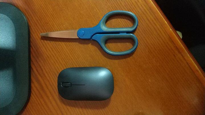 得力(deli)175mm镀钛不锈钢剪刀 软包胶手柄手工剪子 颜色随机 晒单图