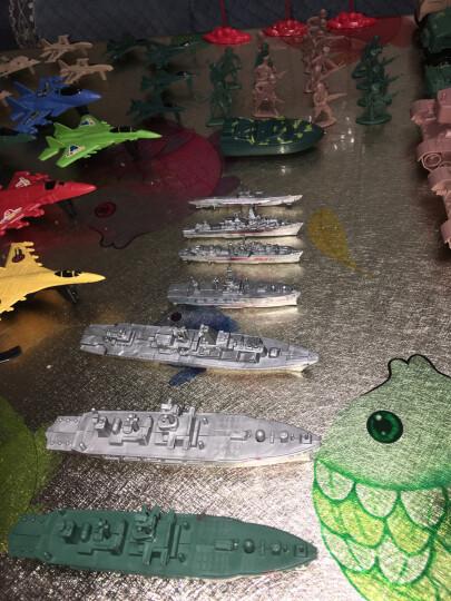 小兵人玩具军事塑料小人打仗沙盘100人 二战绿色沙色混色兵人士兵战争场景儿童玩具兵 海陆空套装 pp袋装 晒单图