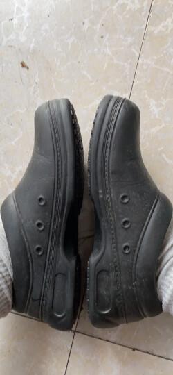 WAKO滑克厨师鞋防滑厨房鞋 工作鞋 防油防水耐磨 厨工专用鞋 酒店劳保鞋男食品车间 黑色 42 晒单图