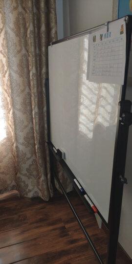 得力(deli) 支架式白板60*90cm A型架带架夹纸磁性白板办公会议写字板海报广告展示架纸夹黑板 儿童画板 7890 晒单图