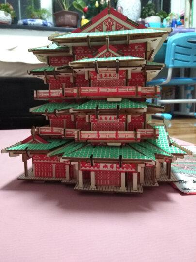 馨联3D实木立体拼图中国世界古建筑彩色木质手工DIY木制拼图仿真模型儿童积木拼装玩具圣诞新年节生日礼 湘西吊脚楼 晒单图