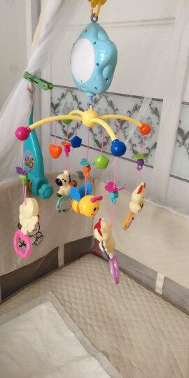 源乐堡(YuanLeBao)婴儿玩具0-1岁床头铃音乐旋转挂饰床铃新生儿摇铃宝宝牙胶0-6个月年货节 (充电版)【赠增高器】遥控版梦幻森林 绿色 晒单图