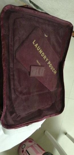 佳途 旅行收纳袋衣物整理包6件套装洗漱化妆包内衣袋 蓝色点点 晒单图