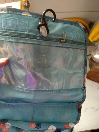 班哲尼 洗漱包系列 花色旅行收纳包洗漱包 折叠悬挂式整理包化妆包 手提整理洗漱包 紫色雏菊 晒单图