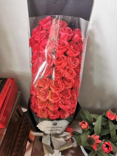 I'M HUA HUA51朵红色玫瑰花香皂花礼品鲜花速递同城花束七夕情人节礼物鲜花礼盒生日纪念日送女生送老婆 晒单图