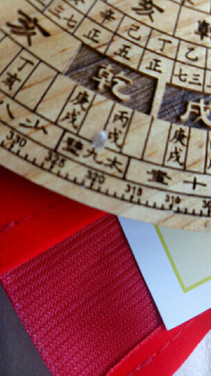 聚缘阁桃木圆形罗盘指南针罗盘罗经仪摆件综合盘大小罗盘 中号刻字罗盘15cm 晒单图