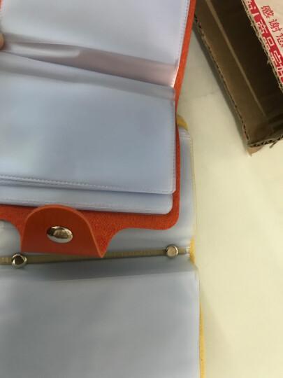 稻草人女卡包多卡位2019新款男士证件包PU名片包银行卡包卡片包卡夹24页24卡位 粉红色 晒单图