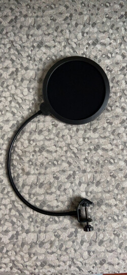 ami WS-04大号双层防风网话筒防风罩 专业录音广播电容麦克风万向防喷罩 黑色 晒单图