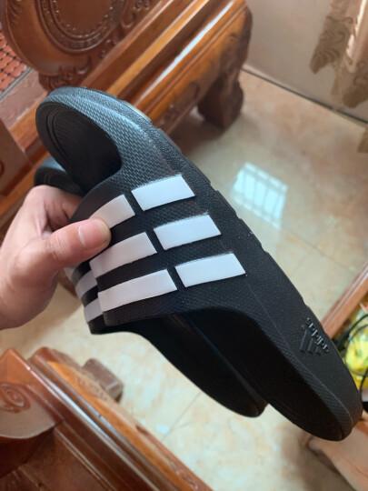 【M015】adidas阿迪达斯拖鞋男鞋 2020夏季新款三条纹沙滩游泳家居缓震休闲透气运动涼鞋 F35587黑色 42 晒单图