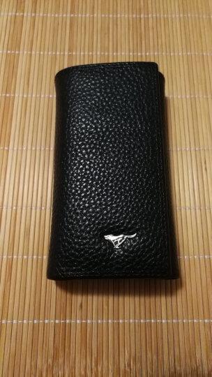 七匹狼钥匙包男士多功能牛皮时尚银行卡包 带钞位钥匙扣皮夹钱包 黑色3A1310374-01 晒单图