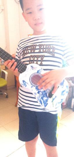 儿童21寸吉他乐器初学者可弹奏尤克里里真琴弦仿真小吉他礼物玩具 小琵琶尤克里里(红木色)32cm 加教程+拨片+琴 晒单图