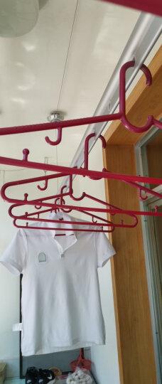 【免费安装】金贵夫人阳台晾衣架升降手摇晾衣杆室内双杆晒衣架晒被子凉衣架 富贵金2.7米+36个衣架 晒单图