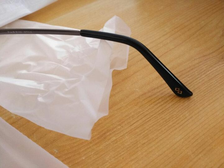 帕森(PARZIN)太阳镜男款偏光驾驶墨镜男士偏光眼镜8009 枪框渐灰片 晒单图