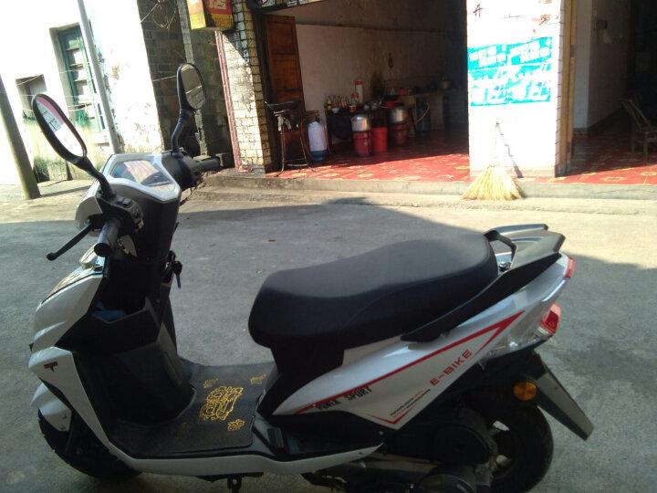 山哥 尚领可上牌鬼火踏板车摩托车125cc燃油车男女式省油踏板车摩托车街车助力车跑车踏板车 白 色 晒单图