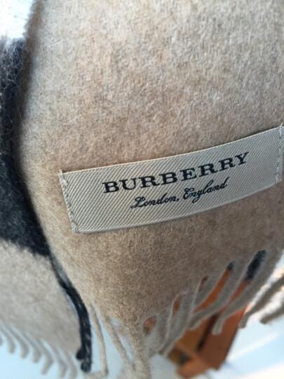 BURBERRY 巴宝莉 男女通用款驼色格纹大号山羊绒围巾 40310791 晒单图