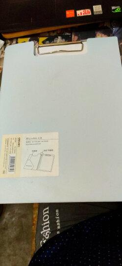 得力(deli)A4带刻度半透明书写板夹文件夹 蓝灰随机9256 晒单图