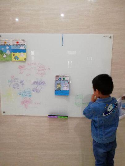 得力(deli)挂式白板120*90cm磁性钢化玻璃白板 抗划书写顺畅会议写字板黑板8736 晒单图