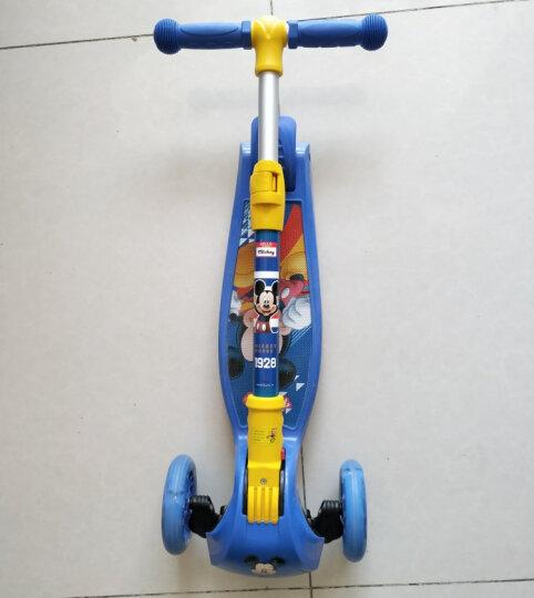 迪士尼(Disney)儿童滑板车四轮闪光可拆卸摇摆车小孩滑行脚踏车DCA71115-D 晒单图