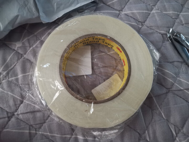 3M 244耐高温遮蔽胶带 美纹纸 汽车 家居喷漆保护 20毫米*50米 2卷装 晒单图