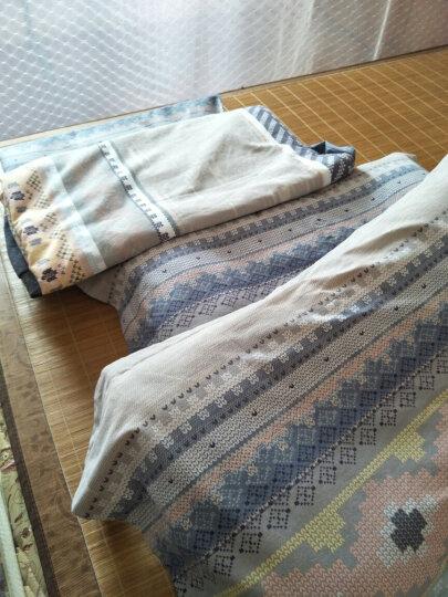 行远  全棉四件套 简约加厚纯棉磨毛床品套件 秋冬保暖单双人床床单被套床上用品 宁静花开 1.5米床/床单款/被套200*230 晒单图