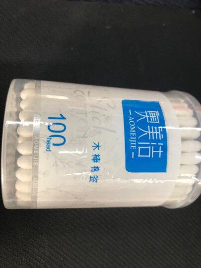 奥美洁 棉签化妆棉签棒木棒筒装(100支)A-0014 晒单图