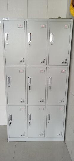 中伟九门更衣柜铁皮柜储物柜员工柜寄存包柜鞋柜 晒单图