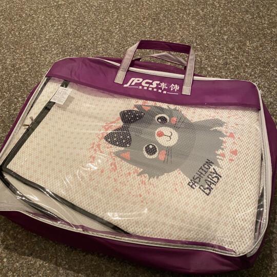 紫风铃汽车坐垫夏季四季单片冰丝3D立体汽车座垫单张方垫前排坐垫可爱卡通无靠背车垫汽车座套车垫 前排单张带靠背--颜色直接备注,默认刺猬 晒单图