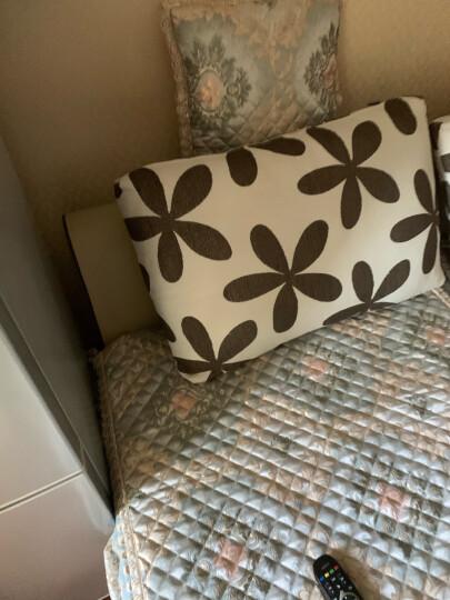 钟爱一生沙发垫套装四季沙发套罩全包坐垫子欧式布艺沙发巾防滑盖布加厚仿亚麻实木红木沙发组合通用 西雅图 45*45cm抱枕套不含芯 晒单图