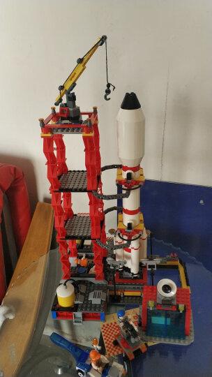 古迪航天积木兼容乐高探索宇宙飞船航天飞机神州火箭模型儿童益智玩具男孩生日礼物 双子星护卫舰送2闪灯+1拆件器 晒单图