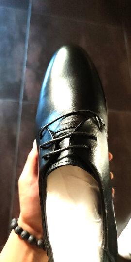 七匹狼男鞋 夏季透气皮鞋男士皮鞋商务内增高正装鞋英伦系带圆头潮款婚鞋男休闲鞋 黑色 42 晒单图