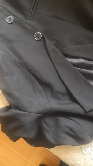 斐格欧文小西装职业装女装套装银行酒店商务 正装外套西服套装工作服套裙 西装+9817白衬衫+衬衫+裤(黑色四件套) L100-110斤以内 晒单图