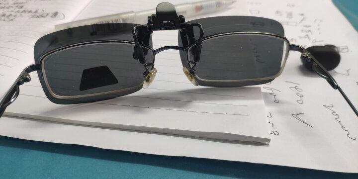 铁摩图 偏光镜夹片太阳镜墨镜近视眼镜夹片防炫目 黑灰色-深色 晒单图
