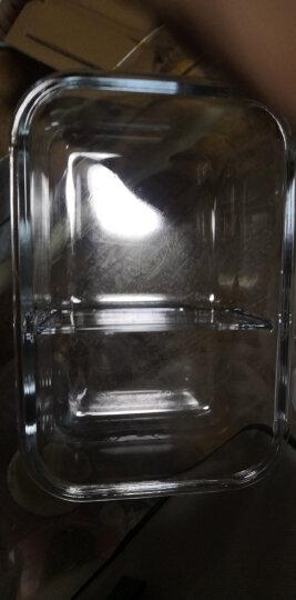 南极人 Nanjiren耐热玻璃保鲜盒 高硼硅大容量微波炉烤箱便当盒分隔玻璃饭盒640+830 ML(带隔断) 送保温袋 晒单图