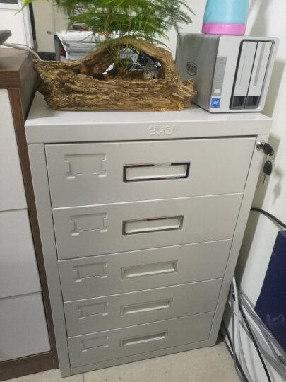 钱柜 五斗矮柜文件柜铁皮柜办公室抽屉柜储物柜带锁加厚床头柜桌边柜子(可放打印机) 晒单图