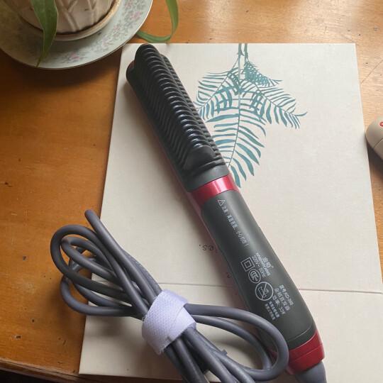 金稻(KingDom) 负离子直发器 陶瓷直卷发两用梳拉直板夹内扣夹板 直发卷发棒卷发器 白色 晒单图