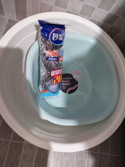 顺美 塑料盆子欧式脸盆加厚浴室厨房多用盆洗菜盆SM-2061颜色随机 晒单图