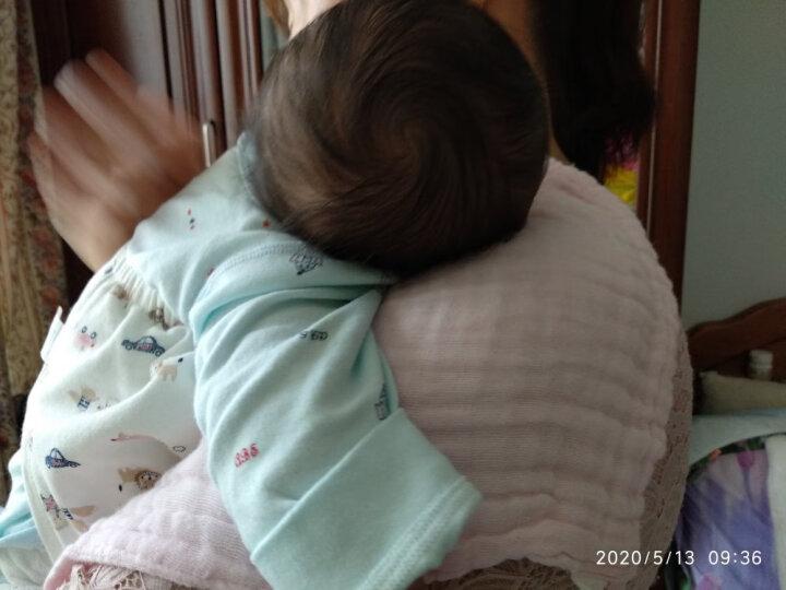 婧麒(JOYNCLEON) 婧麒新生儿毛巾小方巾宝宝口水巾纯棉婴儿手帕洗脸洗澡洗面巾婴儿 红黄蓝三条装 均码 晒单图