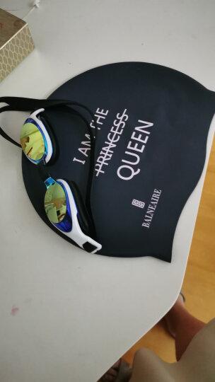 范德安(BALNEAIRE) 泳帽女 防水护耳硅胶泳帽 男女通用专业长发大号游泳帽 深紫蓝 晒单图