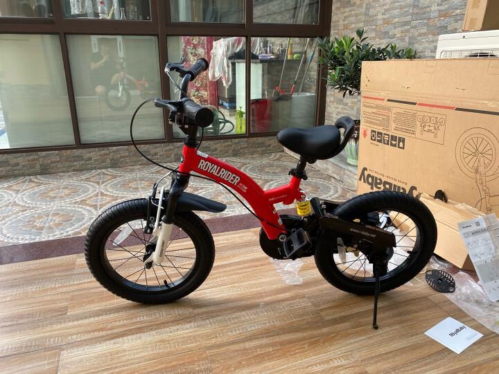 优贝(RoyalBaby)儿童自行车 单车男女小孩童车 避震型宝宝脚踏车山地车3岁-9岁 小飞熊16寸 红色 晒单图