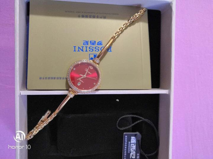 罗西尼(ROSSINI) 手表 CHIC系列时尚石英女表日历白盘白色皮带516734G01C 晒单图