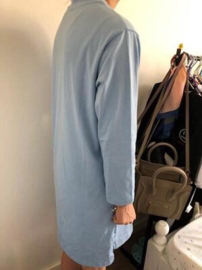 十月名裳 孕妇T恤春夏装上衣长袖中长款大码宽松打底衫 藏青-拎包小女孩【97%棉】 L 晒单图