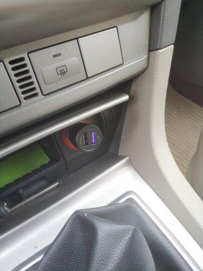 绿巨能(llano)一拖三点烟器一分三 手机车充 双USB口车载充电器 车用电源转换器 黑色 晒单图
