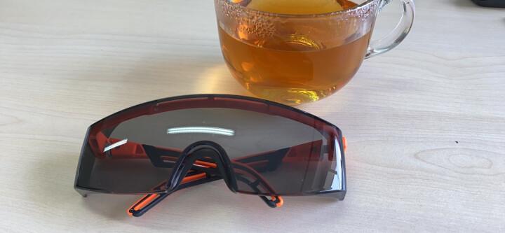 优唯斯(UVEX)护目镜透明防风沙骑行骑车摩托车打磨防飞溅劳保防尘防护眼镜男女 9064246霓虹橙-黑色 晒单图
