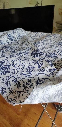棉麻布料服装面料复古中国风名族印花旗袍薄麻桌布民族风布料 #18剪影青花 晒单图