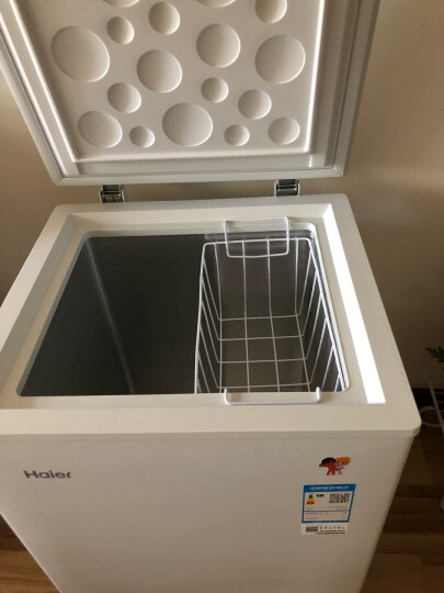 海尔(Haier) 102升家用冷藏冷冻转换冰柜 节能单温母乳冷柜小冰箱 BC/BD-102HT 晒单图