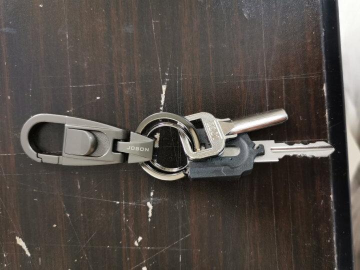 JOBON中邦圈汽车钥匙扣链拉簧腰挂式 ZB-071B黑镍 创意礼品礼物 晒单图