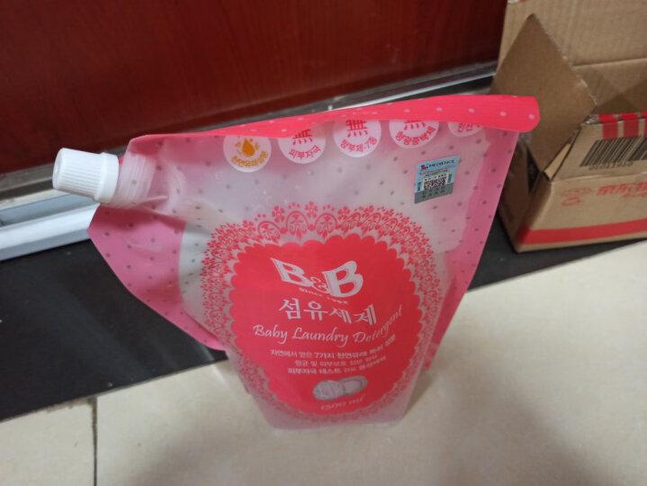 保宁韩国原装进口可手洗婴幼儿新生儿童专用洗涤剂袋装宝宝衣物清洁洗衣液补充装1300ml袋装 晒单图