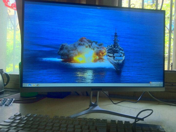 松人 R240A 24英寸显示器 75hz IPS 窄边框 超薄 HDMI高清 办公台式 电脑屏幕 曲面-曜石黑 晒单图