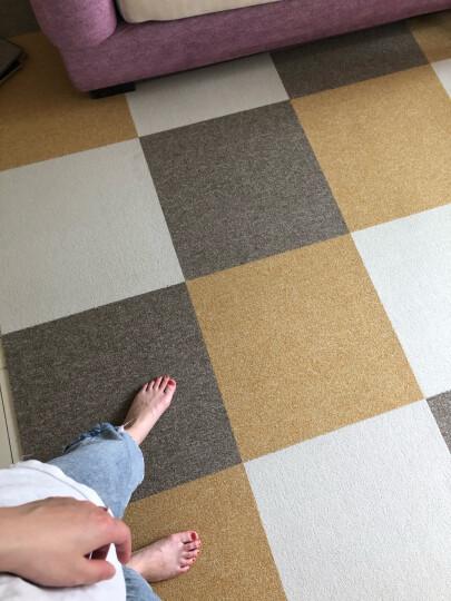 魔毯王国 地毯卧室满铺地毯方块地毯拼块拼接地毯客厅家用房间商用办公室地毯 儿童房床边免胶日式拼接垫子 魔方100-15中国红(单色)  50* 50cm/片【尼龙毯面PVC防滑底】 晒单图