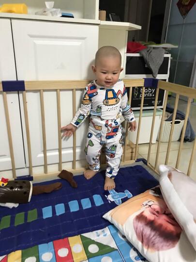 南极人儿童家居服套装夏季薄款宝宝纯棉睡衣婴儿空调服内衣套 七彩橘子 80CM 晒单图